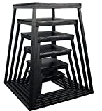 Ader Black Plyometric Platform Box (6''-36'' 6 Pcs Black)
