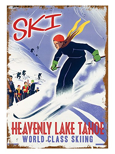 Heavenly Lake Tahoe (18x24 Giclee Fine Art Print - Lake Heavenly Tahoe