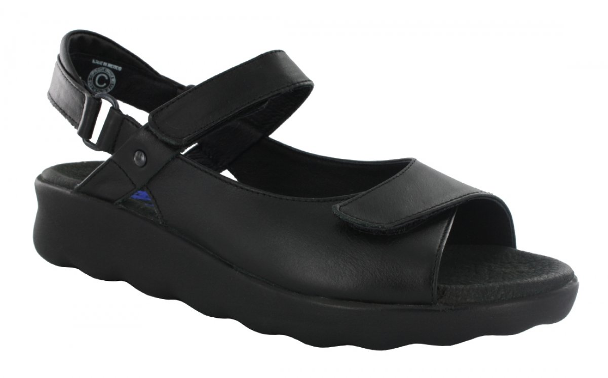 Wolky Comfort Sandals 01890 Pichu - 30000 black leather - 39