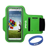 Armband For Samsung Galaxy S5,Uvital®Sport ArmBand Protective Anti-slip Cover Case For Samsung Galaxy S5 S4 S3 S2/Water Resistant + Sweat Proof + Key Holder + ID / Credit Card / Money Holder + Free Wristband(Green)
