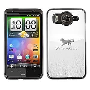 Caucho caso de Shell duro de la cubierta de accesorios de protección BY RAYDREAMMM - HTC G10 - Winter Is Coming Stark
