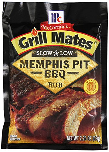 McCormick Grill Mates Slow and Low BBQ Rub, Memphis Pit, 2.25 Ounce (Pack of 10)
