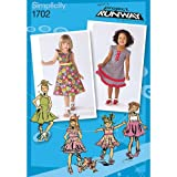 Simplicity Project Runway Pattern 1702 Toddler Dress Review and Comparison