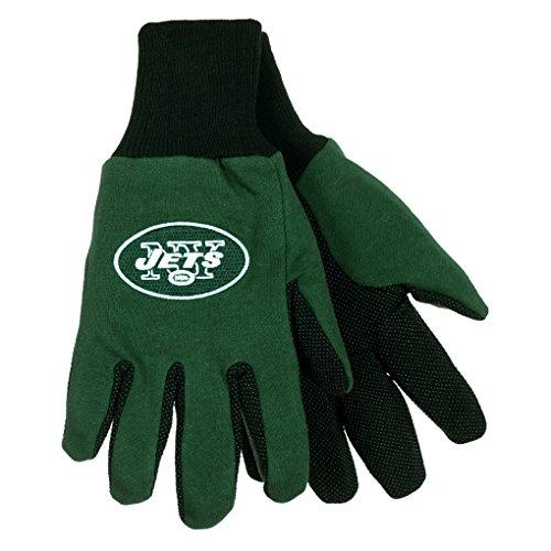 NFL Football Multi Color Team Logo Sport Gloves - Pick Team (New York Jets)