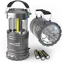 HeroBeam LED Lantern V2.0 with Flashlight - The Original Lantern/Flashlight Combo - Latest COB Technology emits 300 LUMENS! - Great Light for Camping, Car, Shop, Attic, Garage etc.