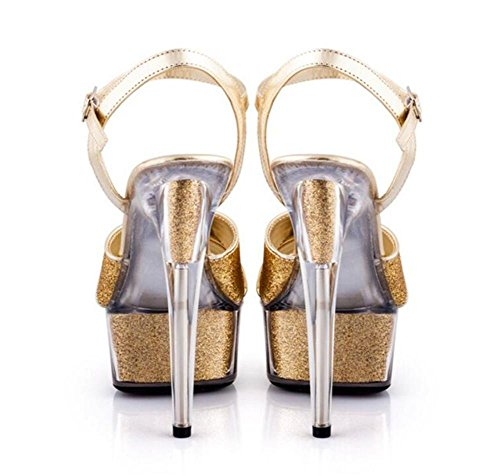 EU43 Party da GAOGENX alla donna di 43 Tacco Sandali Paillettes 35 Taglia spillo Club Glitter a cristallo Platform Scarpe qtq5WaU