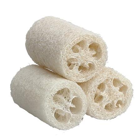 Demiawaking 3 Body Natural Loofah bagno doccia spugna spugnetta ruvida, small Ltd.
