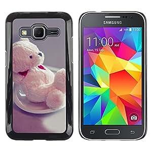 TopCaseStore / la caja del caucho duro de la cubierta de protección de la piel - Cute Bear Heart - Samsung Galaxy Core Prime SM-G360