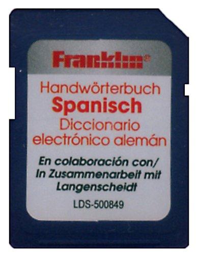Franklin Bookman SD-Karte. LDS-500849 Spanisch: SD-Karte mit Langenscheidt HWB Deutsch<->Spanisch