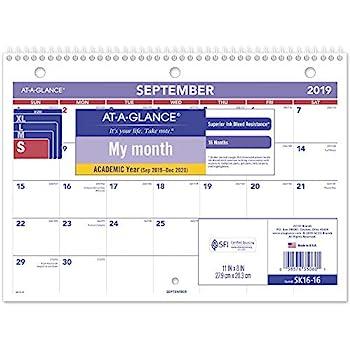 Plano Isd Calendar 2020-16 Amazon.: AT A GLANCE 2019 Desk Calendar, Desk Pad, 8 1/2