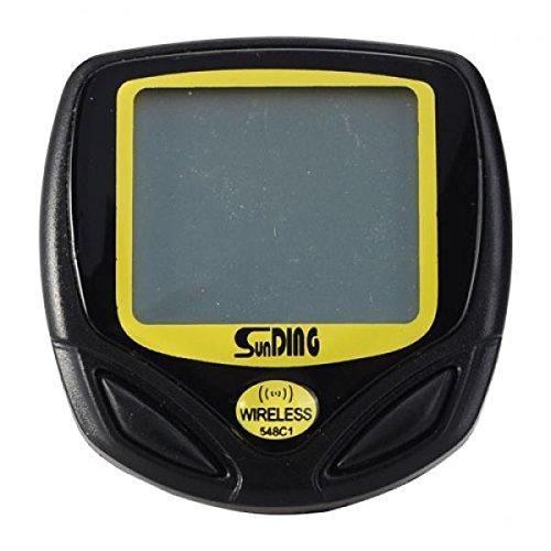 Wireless 14 Functions Bike Computer SD-548C Speedometer Odometer - Black by Piioket