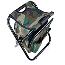Foldable camping chair,Portable Camping Stool,Backpack Foldable Chair with ice Bag Excellent for Hiking/Fishing/Camping/Picnicking