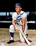Signed Wally Moon Photo - 8X10 LA Pose w Bat on Knee COA - Autographed MLB Photos