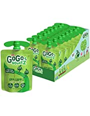 GoGo squeeZ Fruit on the Go, Apple Apple, 3.2 oz. (18 Pouches) - Tasty Kids Applesauce Snacks Made from Apples - Gluten Free Snacks for Kids - Nut & Dairy Free - Vegan Snacks