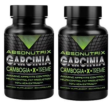 Amazon.com: 2 bottles-absonutrix Garcinia Cambogia 70% HCA ...