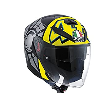 Casco Agv K-5 Jet Top Elements AMARIILO/ROJO T-XS