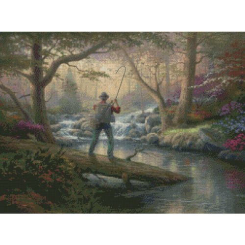 (Candamar Designs It Doesn't Get Much Better by Thomas Kinkade No.51651 Counted Cross Stitch Kit, 16 by 12-Inch)