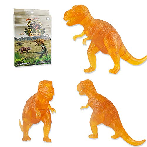 LtrottedJ 3D Puzzle Dinosaur Model DIY Gadget Blocks Building Toy Gift (Orange)