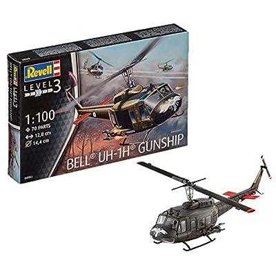 """Revell 04983 """"Bell UH-1H Gunship Model Kit: Toys & Games"""