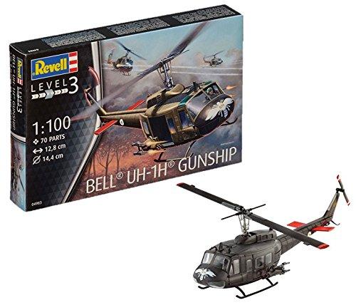 """Revell 04983 """"Bell UH-1H Gunship Model Kit"""