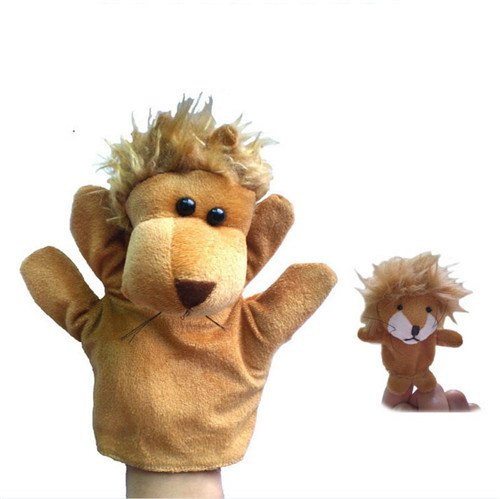Lion King Costumes Theatre (2Pcs (1 Big+1 Small) Lovely Kids Baby Plush Toys Finger Puppet Talking Props Animals Hand)