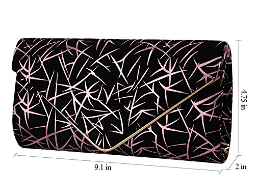 Novias Boutique - Cartera de mano para mujer Plateado plata rosa