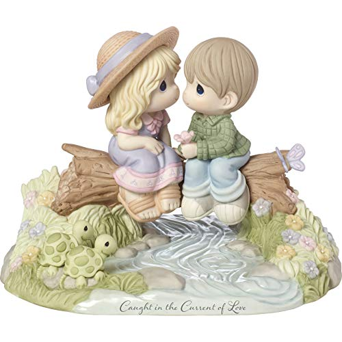 (Precious Moments Limited Edition Caught in The Current of Love Bisque Porcelain 183003 Figurine One Size Multi)