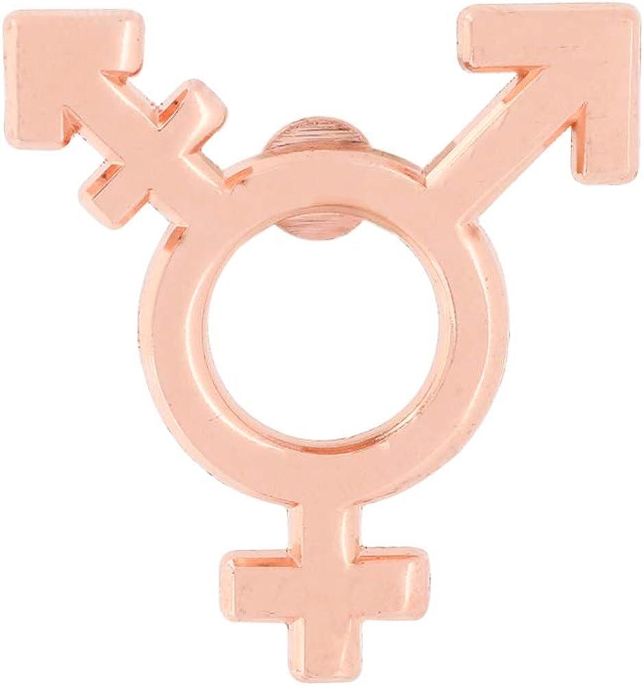 WIZARDPINS Transgender Symbol Red Copper