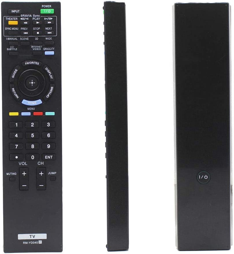 Universal RM-YD040 / RMYD040 Replacement TV Remote Control for Sony Bravia Home Theater System (148782911/1-487-829-11) with 3D Button