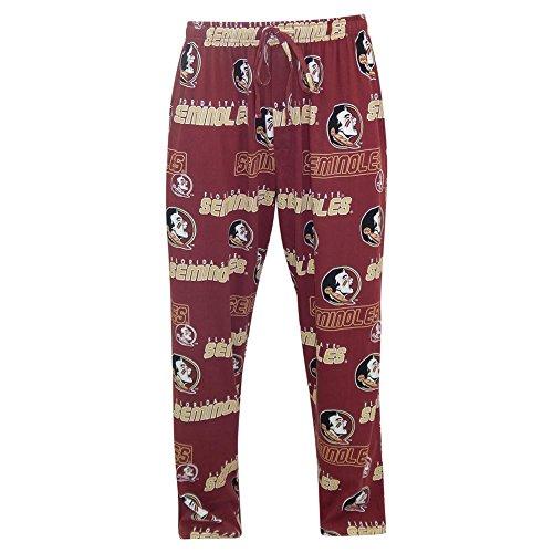 FSU Florida State University Pajamas Men's Slide Sleep Pants (Medium)
