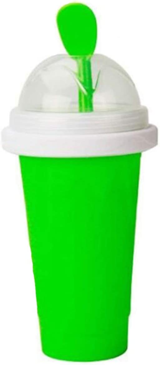Slushy Maker Ice Cup Travel Portable Double Layer Plastic Cup Pinch Cup Hot Summer Cooler Smoothie Cup Pinch into Ice Children's Adult Slushy Ice Cup