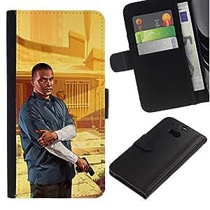 All Phone Most Case / Oferta Especial Cáscara Funda de cuero Monedero Cubierta de proteccion Caso / Wallet Case for HTC One M8 // G T A - Franklin Poster