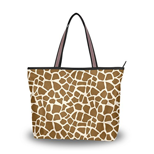 Cooper girl Giraffe Skin Tote Bag Top Handle Handbag Shoulder Bag Large Capacity