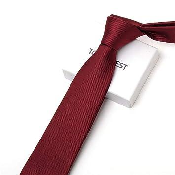 Xzwdiao Corbatas Corbata De Hombre con Rayas Rojas para Hombre ...