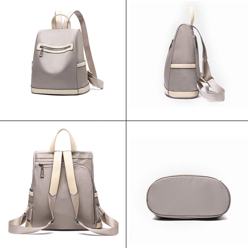 Women Waterproof Oxford Cloth Backpack Fashion Travel Bag Color : Khaki, Size : 31cm15cm29cm High Grade Ladies Rucksack