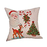 Cotton Linen Christmas Xmas Socks Pillow Case Throw Cushion Cover Home Decor EASY TO WASH, Gentle to Your Skin, MULTICOLOR Hypoallergenic, Anti-static Pillowcase size: 45cm*45cm/18 * 18inch