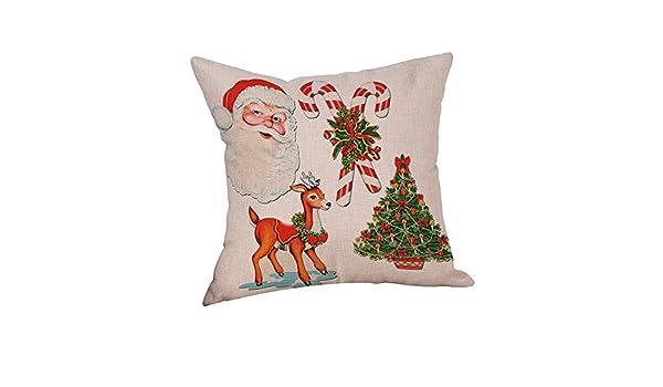 Kinlene Algodón Lino Navidad Calcetines de Navidad Funda de ...