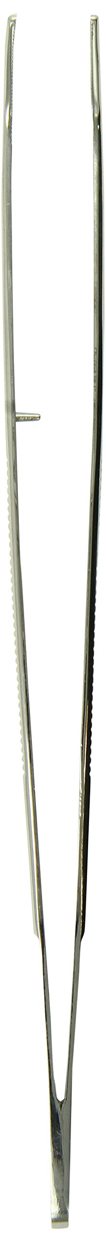 Tamsco Tweezers 8-Inch Angled Stainless Steel Angled Tip Serrated