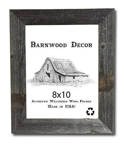 Barnwood Decor of OKC | Old Farmhouse 8x10 Picture Frame Barnwood Frame (8x10)