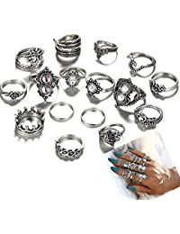 Unique Vintage Style Mid Midi Above Stack Knuckle Stacking Ring - 16pcs