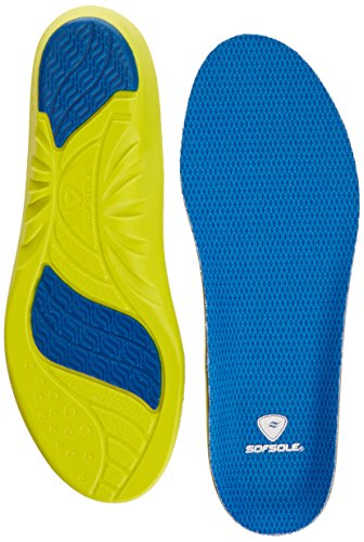 Sof Sole Athlete Performance Insoles - Yellow/Blue, Women's 6-9