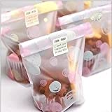 Efivs Arts 50pcs Zubbles Cookies Bakery Candy Biscuit OPP Plastic Bags for Bakery Party Wedding Dessert