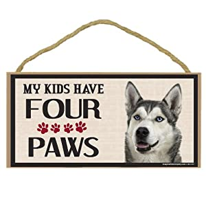 Imagine This Wood Breed Four Paws Sign, Husky 12