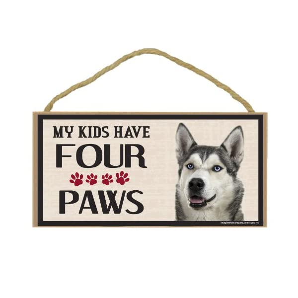 Imagine This Wood Breed Four Paws Sign, Husky 1