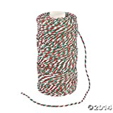 Automotive : Red Green and White Christmas Holiday Baker's Twine - 328 ft