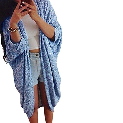 Veste Manches Pull Manteau En Femmes Casual Lady Bleu Cardigan Tricot Tonsee®®®®®®®®®®®®®®®®®®®®®®®® wq0AgOY