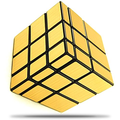 Wannabuy Magic Combination 3D Puzzle Smooth Mirror Cube, 3x3 Match-specific Speed Cube Stickerless Twisty Puzzle(gold) (Puzzle Cube Gear)
