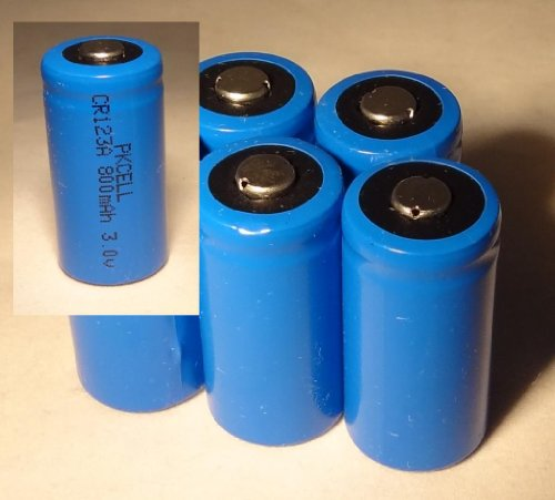 Five (5) New High Quality CR123A CR123 CR 123A 3.0V 3V BT Lithium Battery PKCELL