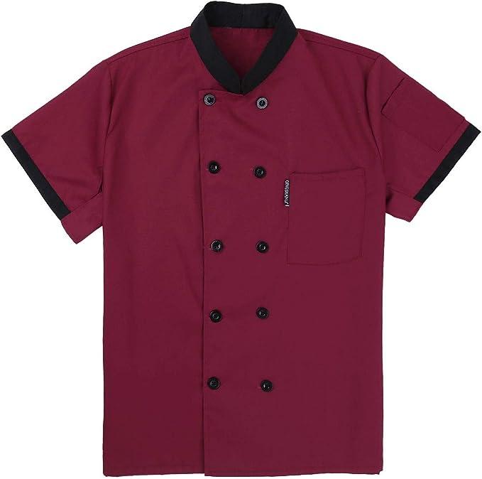 Freebily Unisexo Camisa de Cocineros Camareros Chef Uniforme ...