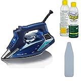 Rowenta (1800-Watt/Blue) DW9280 Steam Focus Steam Iron + Ironing Board Cover and Starch Spray